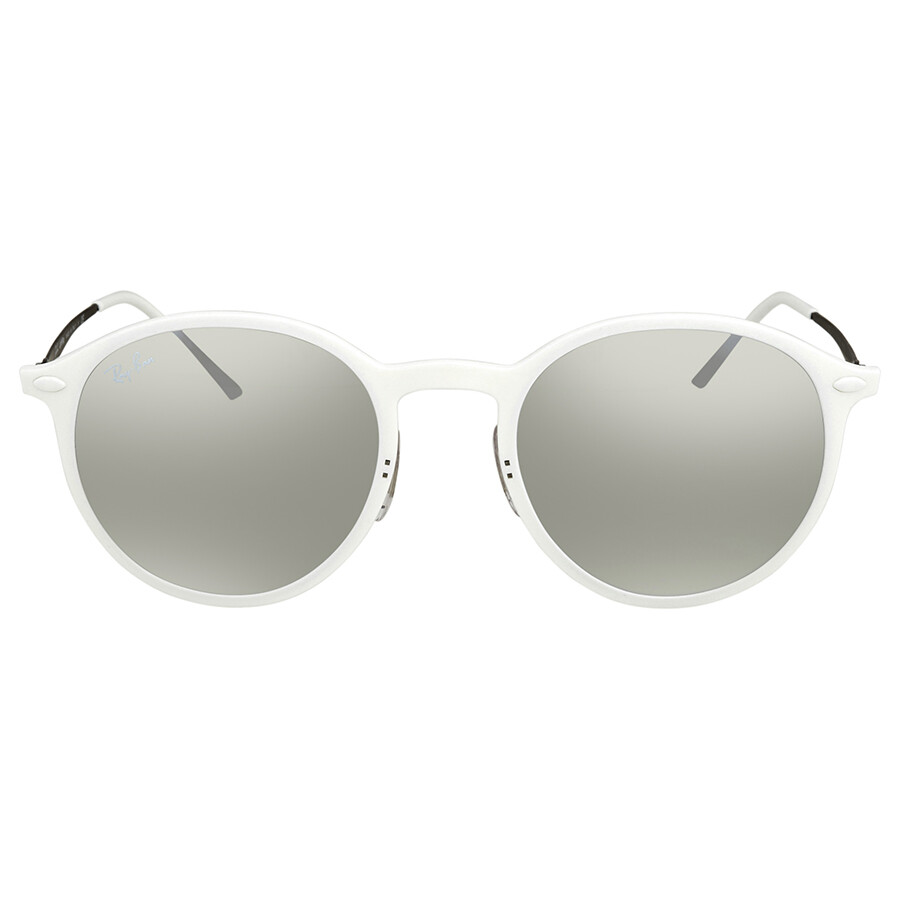 49f8953df751 ... Ray Ban Brown Gradient, Silver Mirror Round Sunglasses RB4224 671/B8 49  ...