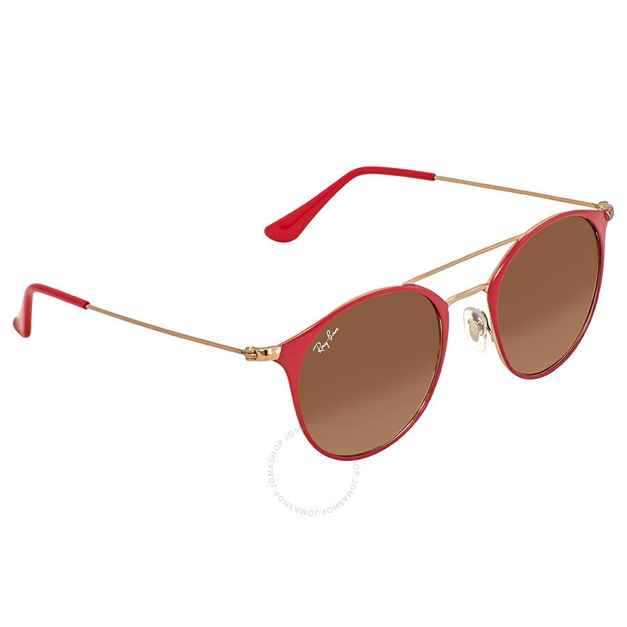 ca38cff750 Ray Ban Brown-Pink Gradient 49mm Round Sunglasses RB3546 907271 49 ...