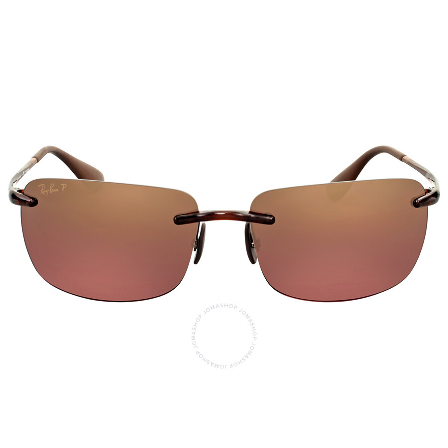 레이밴 Ray Ban Brown Polarized Sunglasses RB4255 604/6B 60