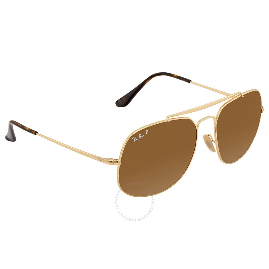 Ray Ban Brown Square Sunglasses RB3561 001 M2 57 - Ray-Ban ... 3488189cd4e6