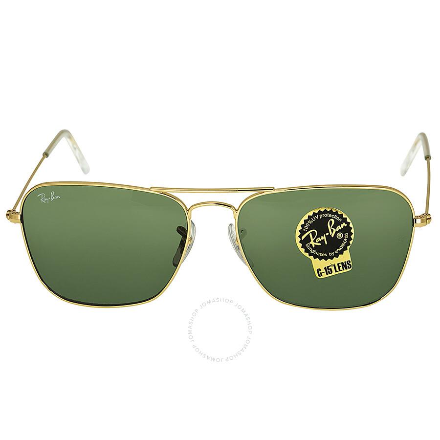 11c278a0c2c Ray Ban Ray-Ban Caravan Arista Frame Green Lens Sunglasses