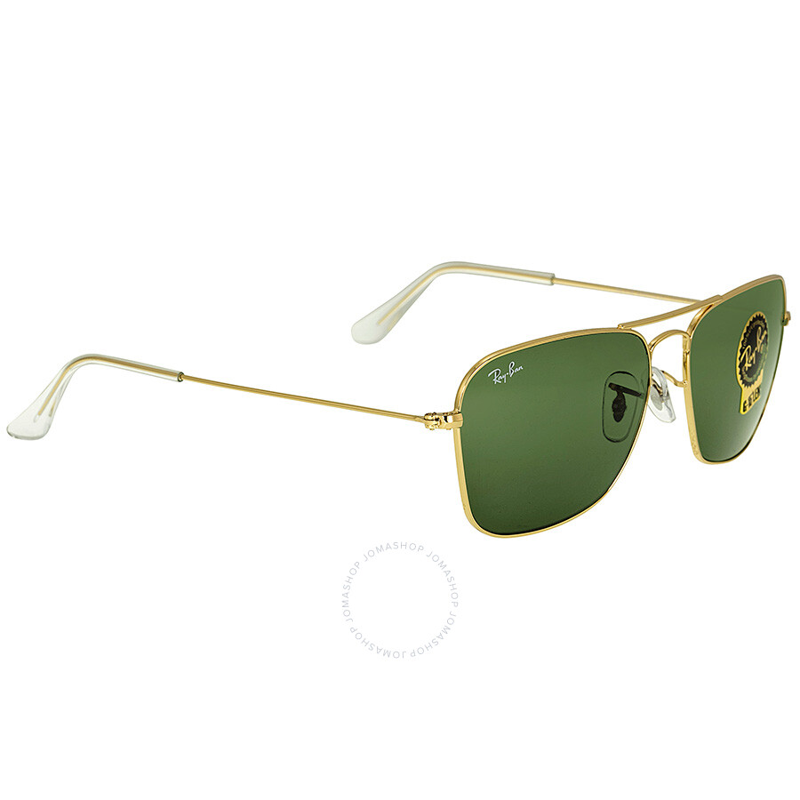 b862ece575 ... Ray-Ban Caravan Arista Frame Green Lens Sunglasses RB3136 001 58-15 ...