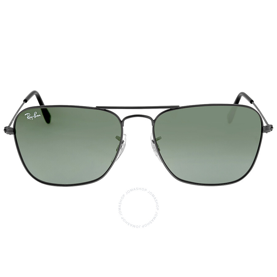 737cd35d96 Ray-Ban Caravan Green Classic G-15 Gunmetal Sunglasses RB313600455