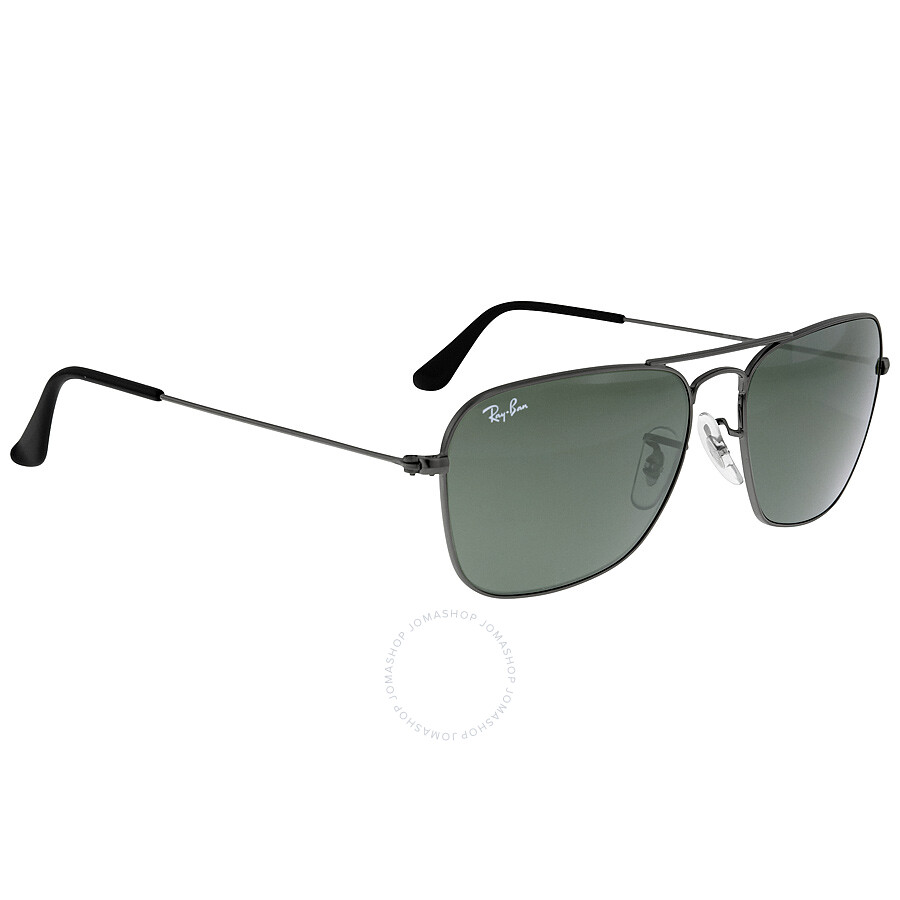 84d0807420 ... Ray-Ban Caravan Green Classic G-15 Gunmetal Sunglasses RB313600455 ...