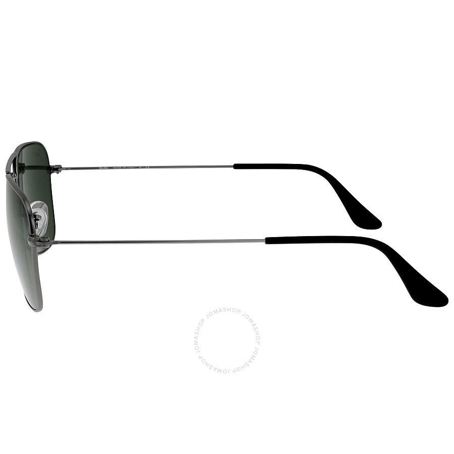 cbd4e0514c Ray-Ban Caravan Green Classic G-15 Gunmetal Sunglasses RB313600455 ...