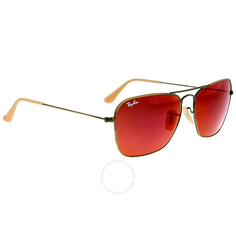 Ray ban caravan red mirror sunglasses rb31361672k58 ray for Mirror sunglasses