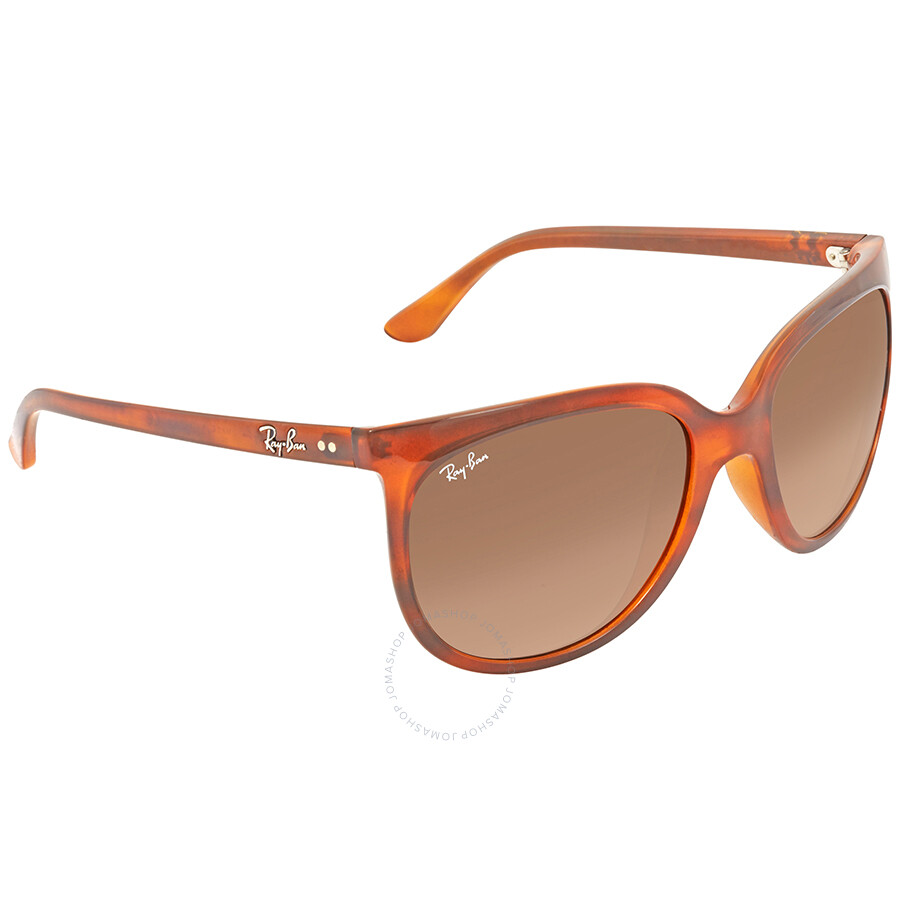 c00d8e2ee7 Ray Ban Cats 1000 Brown Gradient Cat Eye Ladies Sunglasses RB4126 820 A5 57  ...