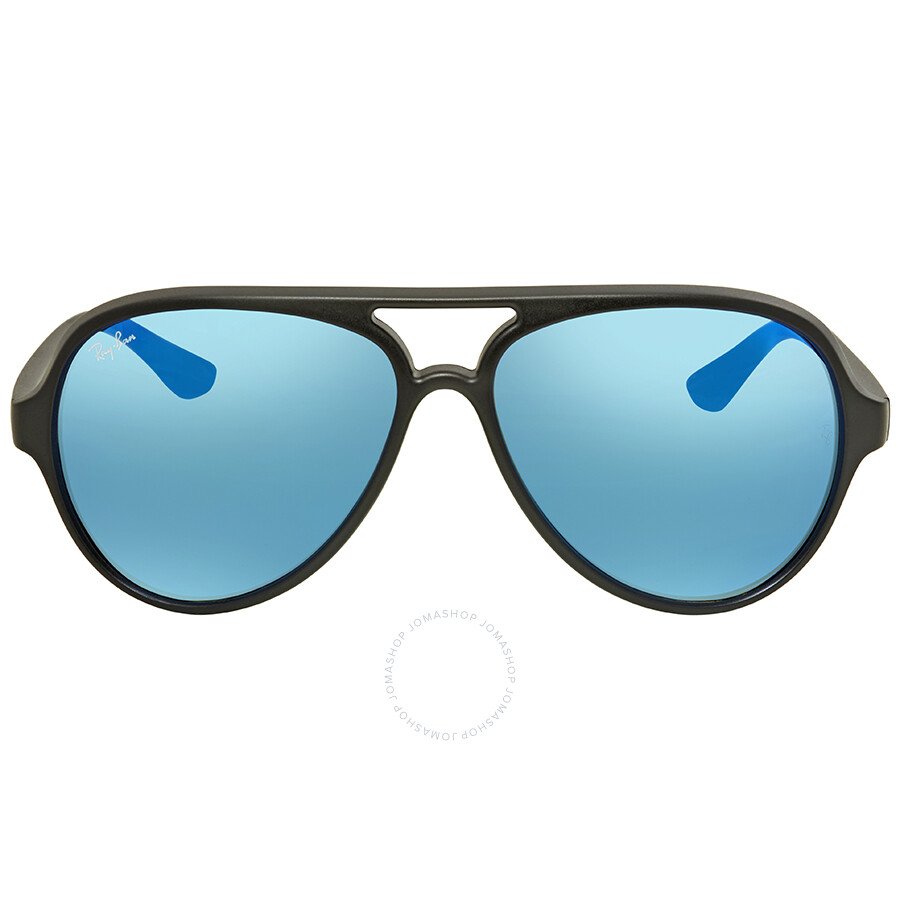 5af3736280 Ray Ban Cats 5000 Blue Flash Sunglasses RB4125 601S17 59 - Ray-Ban ...