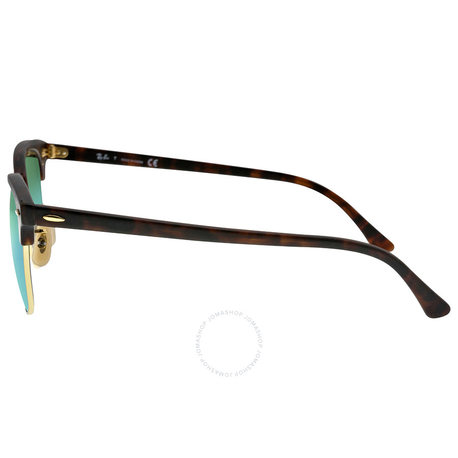 e378512c69 ... Ray Ban Classic Clubmaster Green Flash Lenses Tortoise-shell Plastic  Frame Men s Sunglasses RB3016- ...