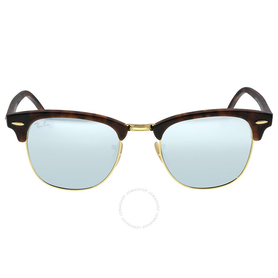 Men S Clubmaster Sunglasses  ray ban clubmaster flash lenses men s sunglasses rb3016 114530 51