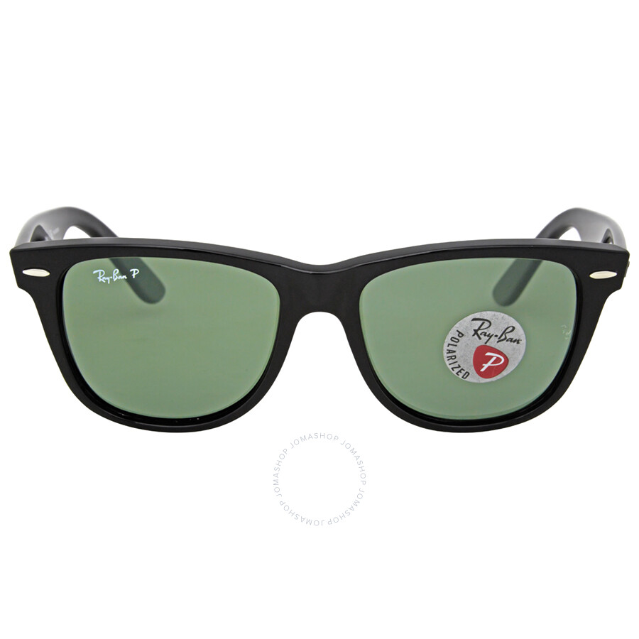 ray ban 2140 wayfarer polarized  Ray-Ban Classic Wayfarer Black Frame Polarized Green Lens 2140 901 ...
