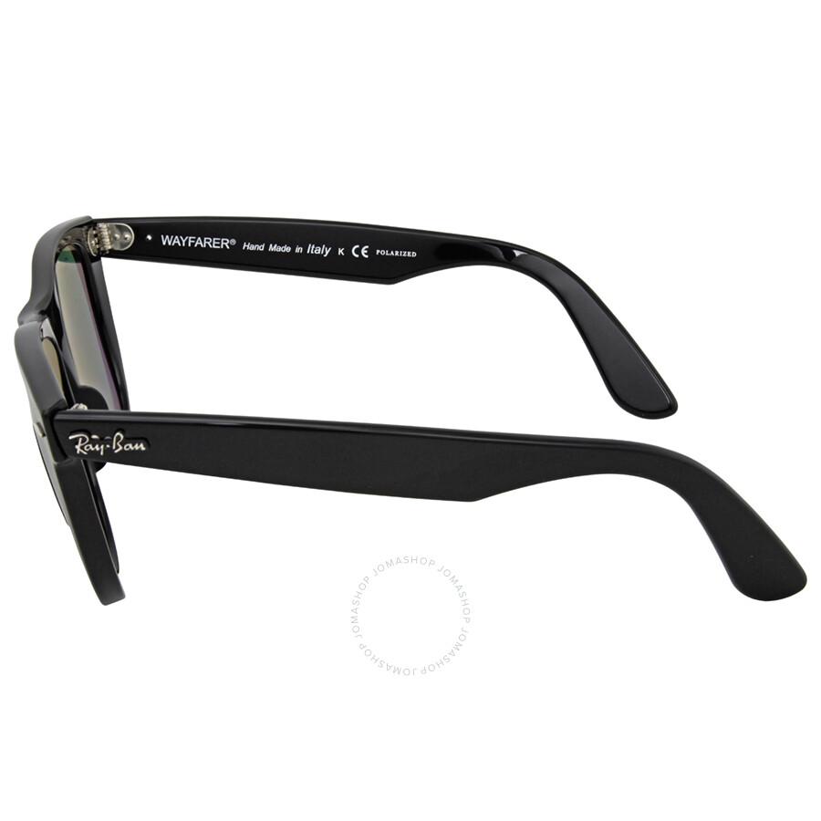 ray ban classic wayfarer black  Ray-Ban Classic Wayfarer Black Frame Polarized Green Lens 2140 901 ...