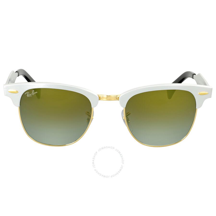 4d768e6dc2e Ray Ban Clubmaster Aluminum Green Sunglasses - Clubmaster - Ray-Ban ...