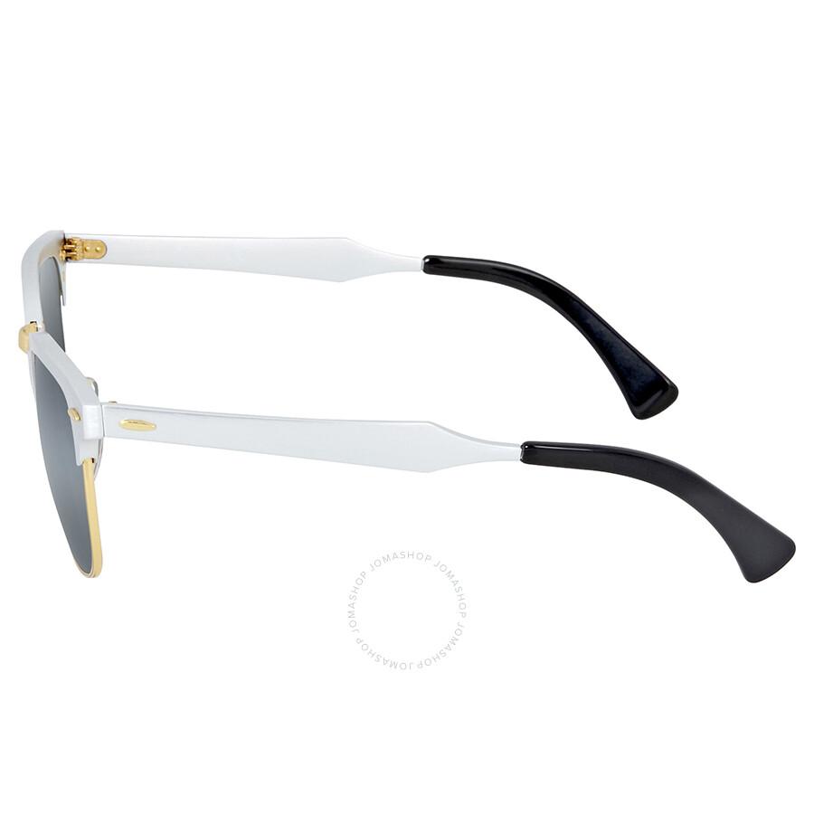 85b08532e66 Ray-Ban Clubmaster Aluminum Silver Mirror Sunglasses - Clubmaster ...