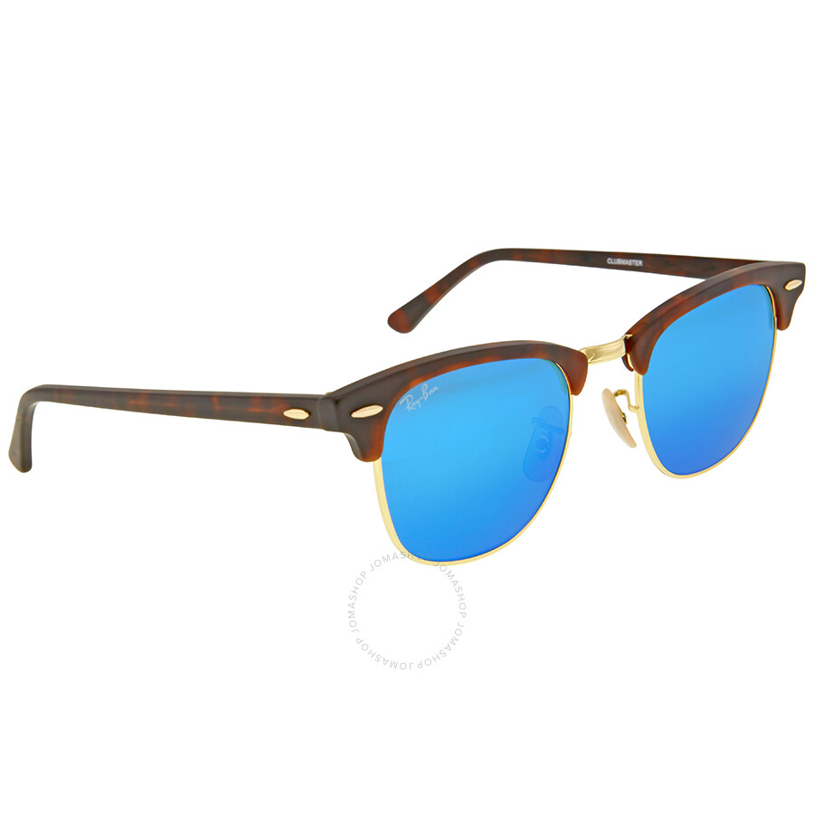 ray ban clubmaster blue flash sunglasses rb3016 114517 49. Black Bedroom Furniture Sets. Home Design Ideas