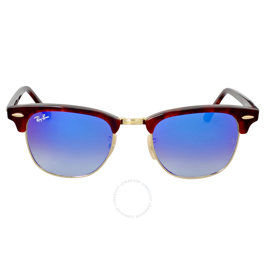 90aff6ad627 Ray-Ban Clubmaster Blue Gradient Flash Sunglasses - Clubmaster - Ray ...