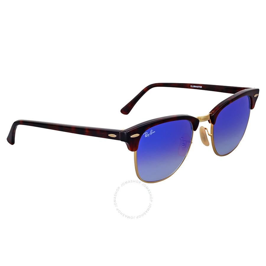 a364efcaf77 Ray Ban Clubmaster Blue Gradient Flash Sunglasses Ray Ban Clubmaster Blue Gradient  Flash Sunglasses ...