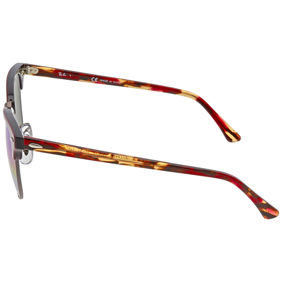 e67e735bcd1c9 ... Ray Ban Clubmaster Blue Rainbow Flash Men s Sunglasses RB3016 1222C2 49