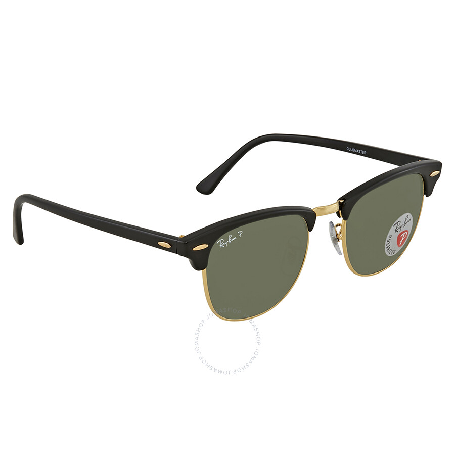 8e6003ca8d1fb Ray Ban Clubmaster Classic Green Classic Polarized G-15 Sunglasses RB3016  901 58 51 ...