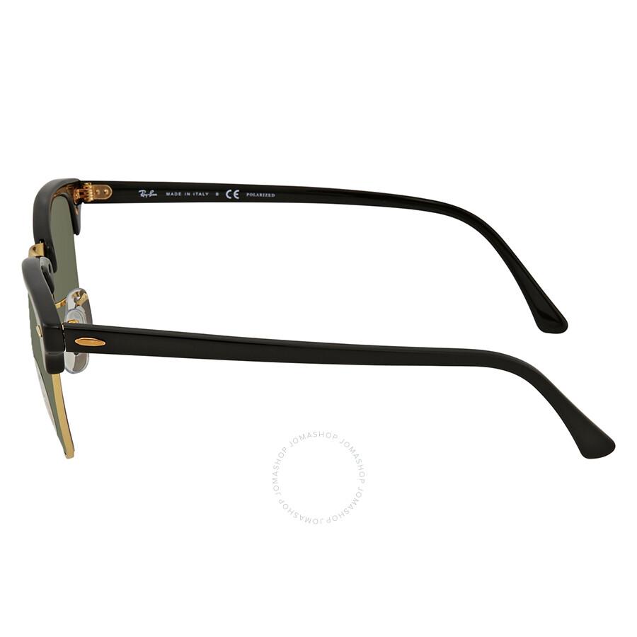 df35e044f74 ... Ray Ban Clubmaster Classic Green Classic Polarized G-15 Sunglasses  RB3016 901 58 51