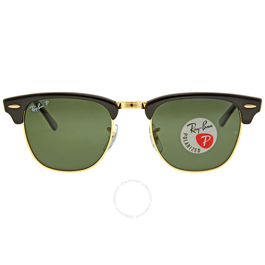 f515852aa44337 Ray Ban Clubmaster Classic Polarized Green Classic G-15 Sunglasses RB3016  901 58 49 ...