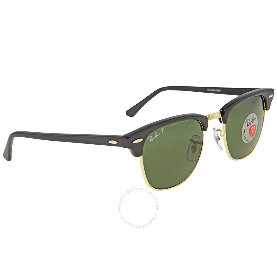 5a895a8727 ... Ray Ban Clubmaster Classic Polarized Green Classic G-15 Sunglasses  RB3016 901 58 49