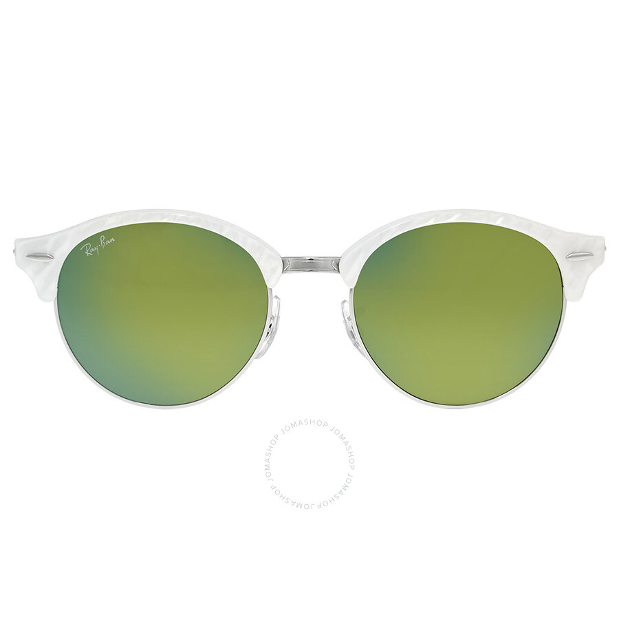 8e7dc3756f8 Ray-Ban Clubmaster Clubround Green Mirror Sunglasses - Clubmaster ...