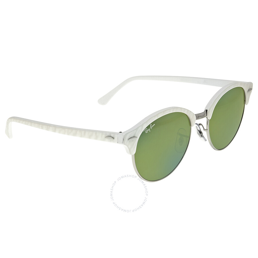 dac090a96b Ray-Ban Clubmaster Clubround Green Mirror Sunglasses - Clubmaster ...