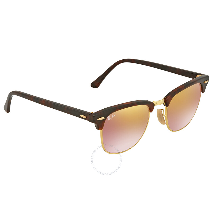 6cd5439713 Ray Ban Clubmaster Copper Gradient Flash Square Sunglasses RB3016 9907OE 49  ...