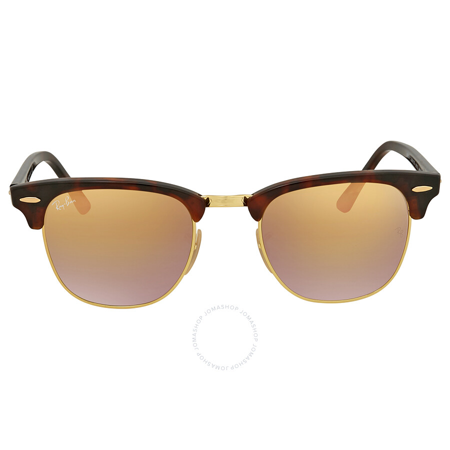 e8c0466245e ... Ray Ban Clubmaster Copper Gradient Flash Square Sunglasses RB3016  9907OE 49 ...