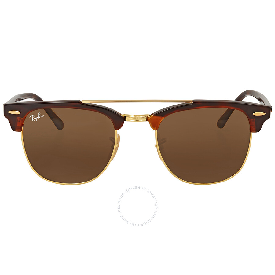 3f64689f1fe8c Ray Ban Clubmaster Doublebridge Brown Square Sunglasses Item No. RB3816  990 33 51