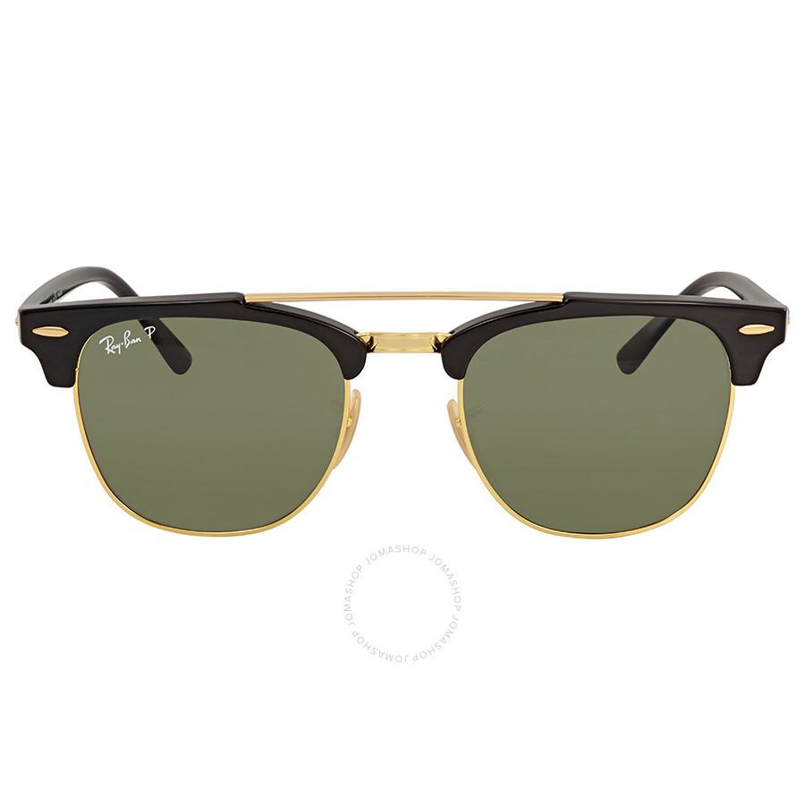 142d85711 Ray Ban Clubmaster Doublebridge Green Square Sunglasses RB3816 901/58 51  Item No. RB3816 901/58 51