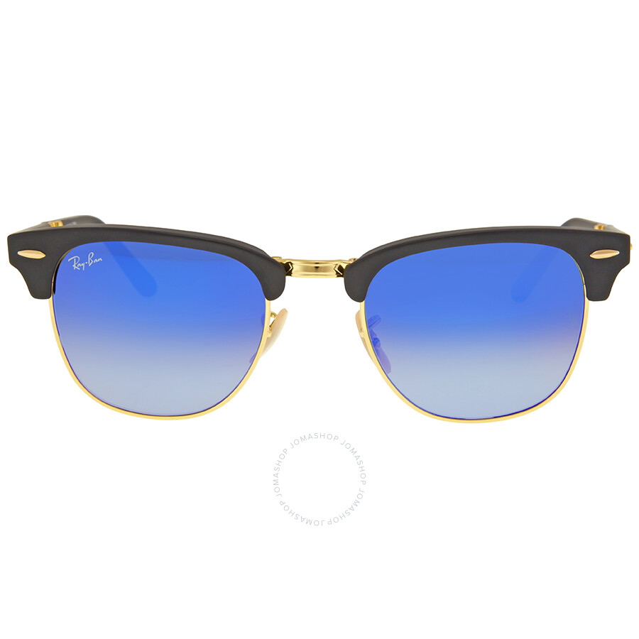 ray ban clubmaster folding blue gradient flash sunglasses rb2176 901s7q 51 clubmaster ray. Black Bedroom Furniture Sets. Home Design Ideas