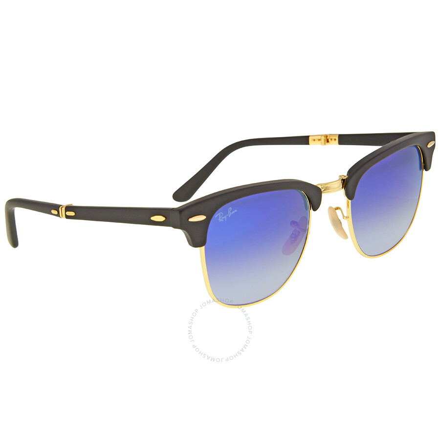 7a9035049aa Ray Ban Clubmaster Folding Blue Gradient Flash Sunglasses RB2176-901S7Q-51  - Clubmaster -