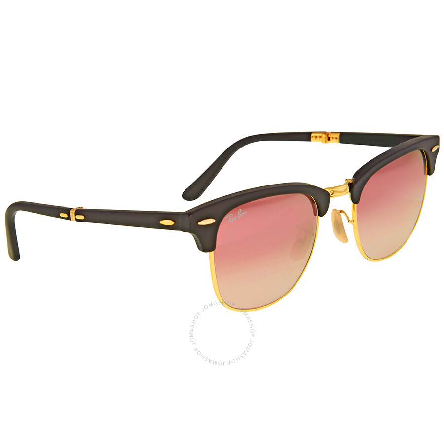 4c8a82d85 ... Ray Ban Clubmaster Folding Copper Gradient Flash Sunglasses  RB2176-901S7O-51 ...