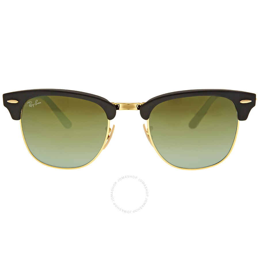 1eda9cc2900 Ray Ban Clubmaster Folding Green Gradient Flash Sunglasses RB2176-901S9J-51  ...