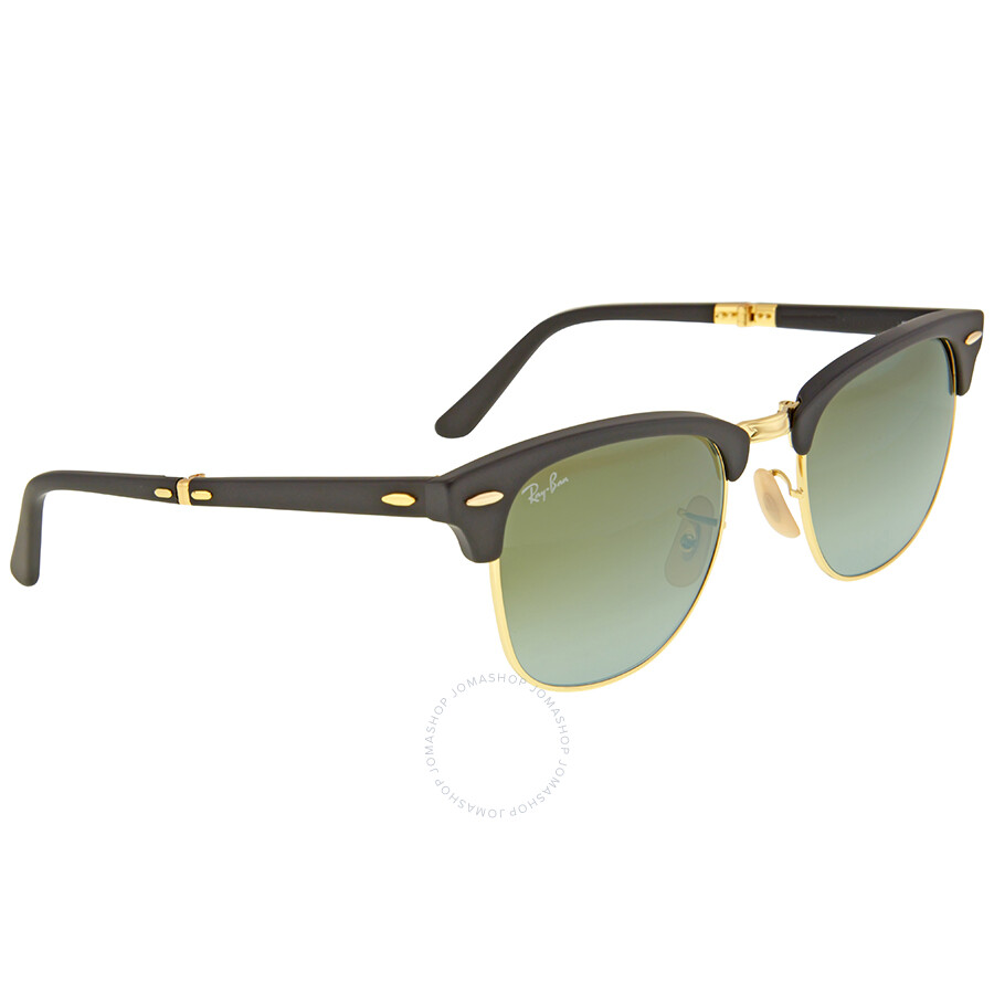 8658a727b40 ... Ray Ban Clubmaster Folding Green Gradient Flash Sunglasses RB2176-901S9J-51  ...