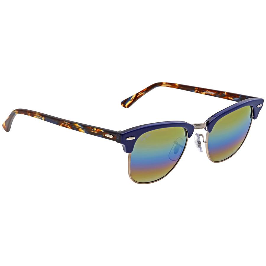 1223c4 Rainbow Clubmaster Rb3016 49 Men's Ray Gold Sunglasses Flash Ban EYWIDH29