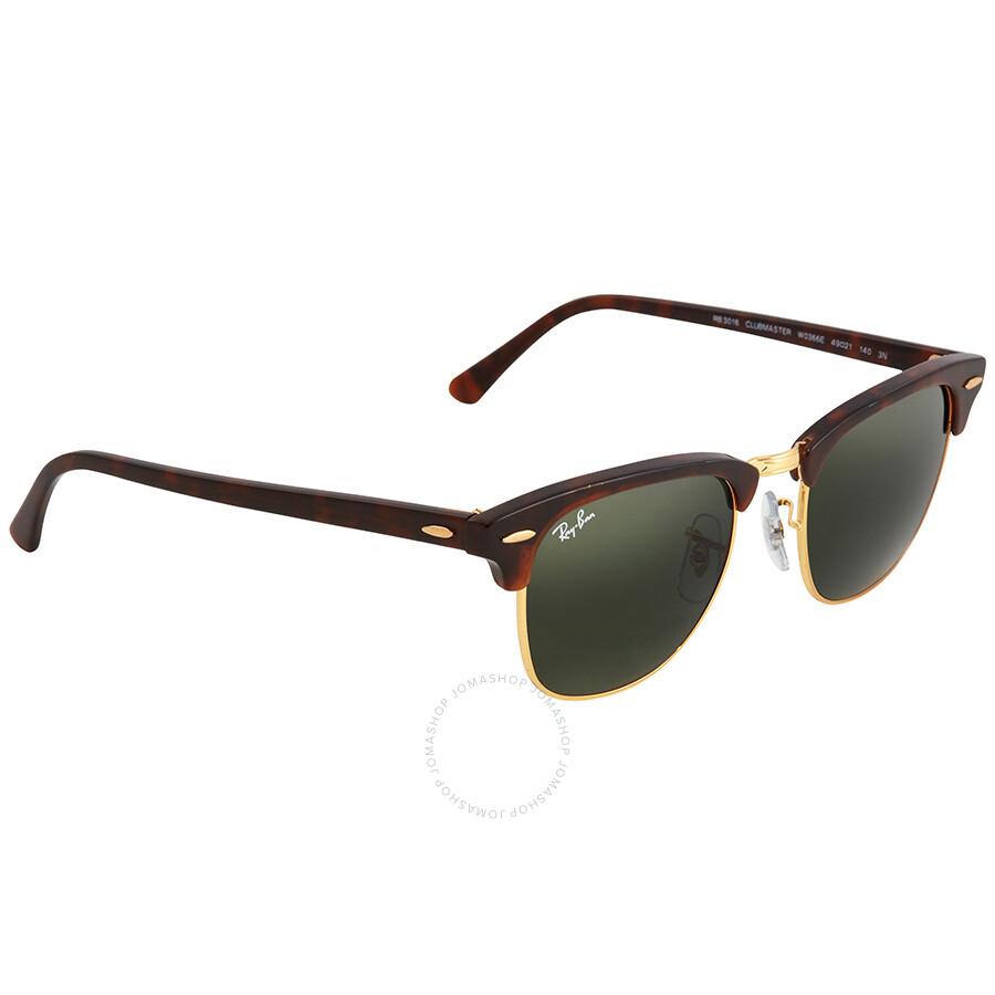 Ray Ban Clubmaster Green Classic G-15 Sunglasses RB3016 W0366E 49 ... 880f17326c