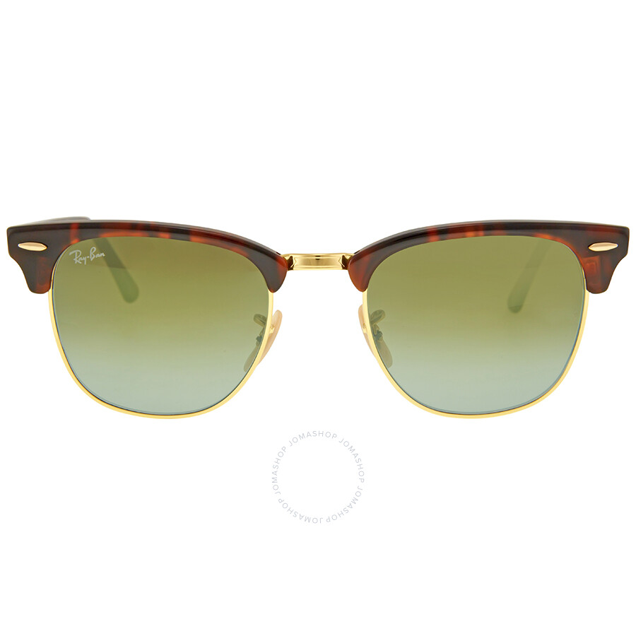 레이밴 Ray Ban 클럽마스터 Clubmaster Green Gradient Flash Sunglasses RB3016-990/9J-51