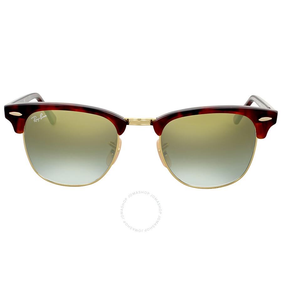 5a416f3c813 Ray Ban Clubmaster Green Gradient Flash Sunglasses Item No. RB3016 990/9J 49