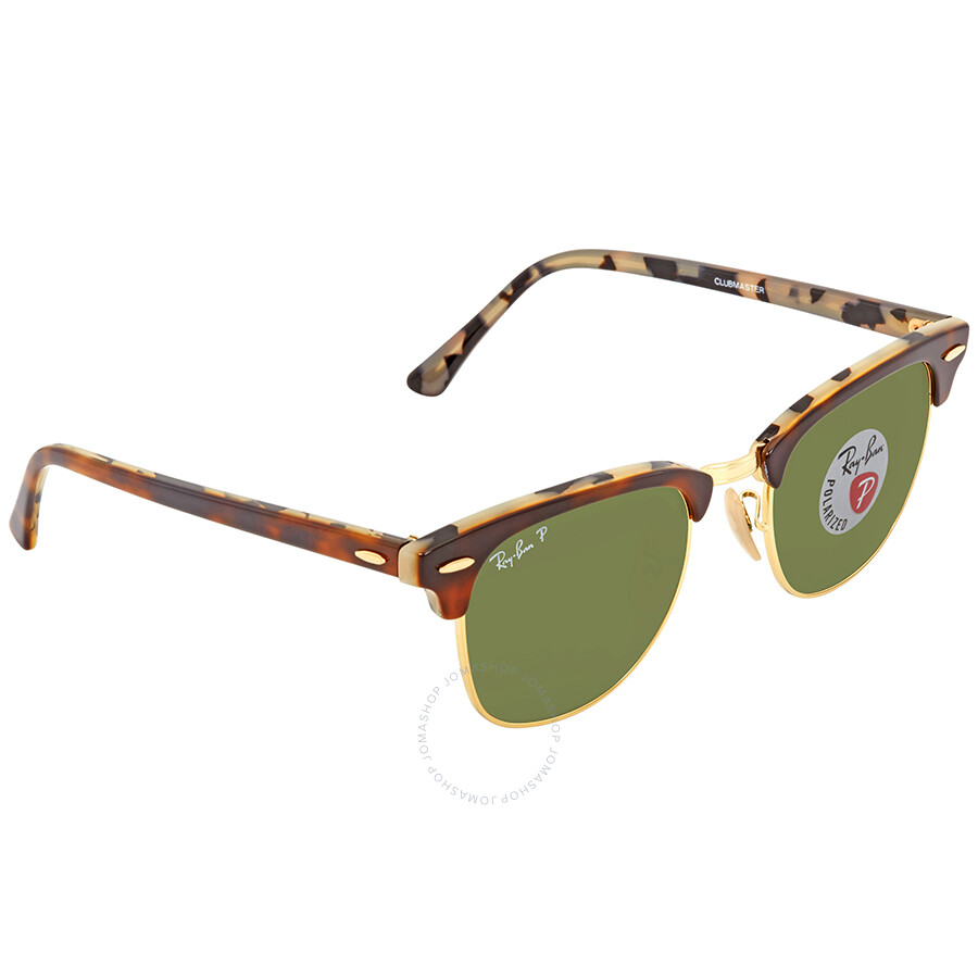 e543d63580 Ray Ban Clubmaster Green Polarized Limited Edition Sunglasses RB3016 W3375E  49 ...