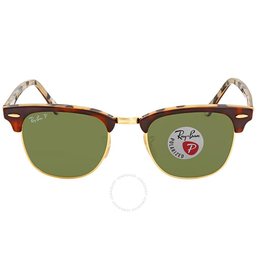 91c5e711064ff ... Ray Ban Clubmaster Green Polarized Limited Edition Sunglasses RB3016  W3375E 49 ...