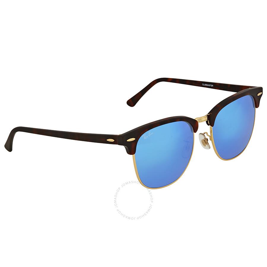0b62e6d032 Ray-Ban Clubmaster Grey Blue Mirror Sunglasses - Clubmaster - Ray ...