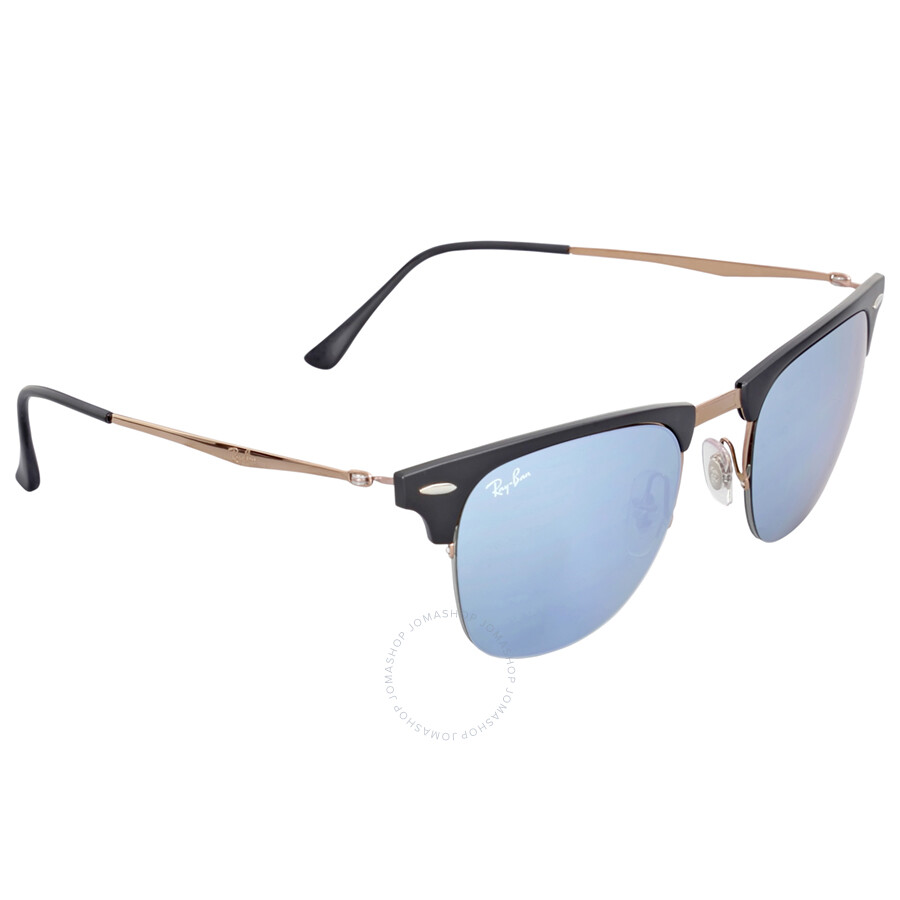 897cd84278 ... Ray-Ban Clubmaster Light 51MM Ray Silver Mirror Sunglasses RB8056 176 30  51 ...