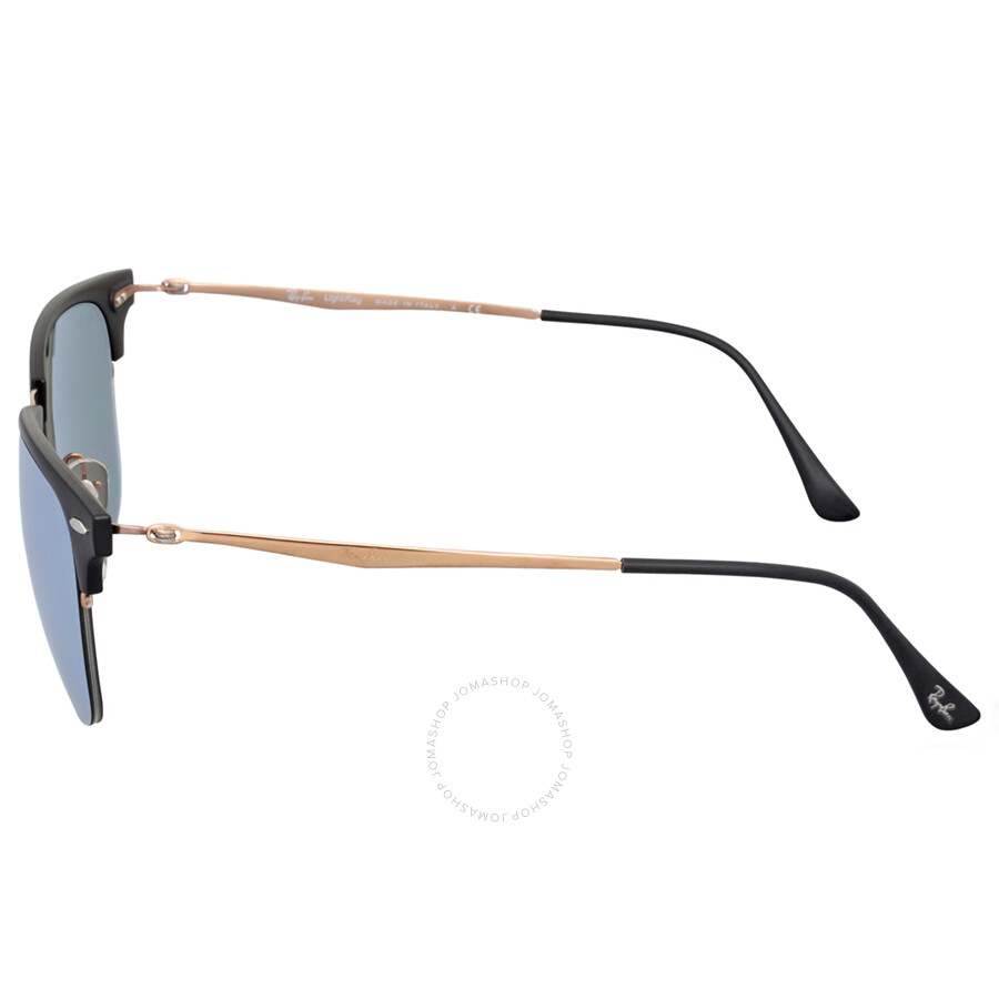 6a302ac55e5 ... Ray-Ban Clubmaster Light 51MM Ray Silver Mirror Sunglasses RB8056 176 30  51