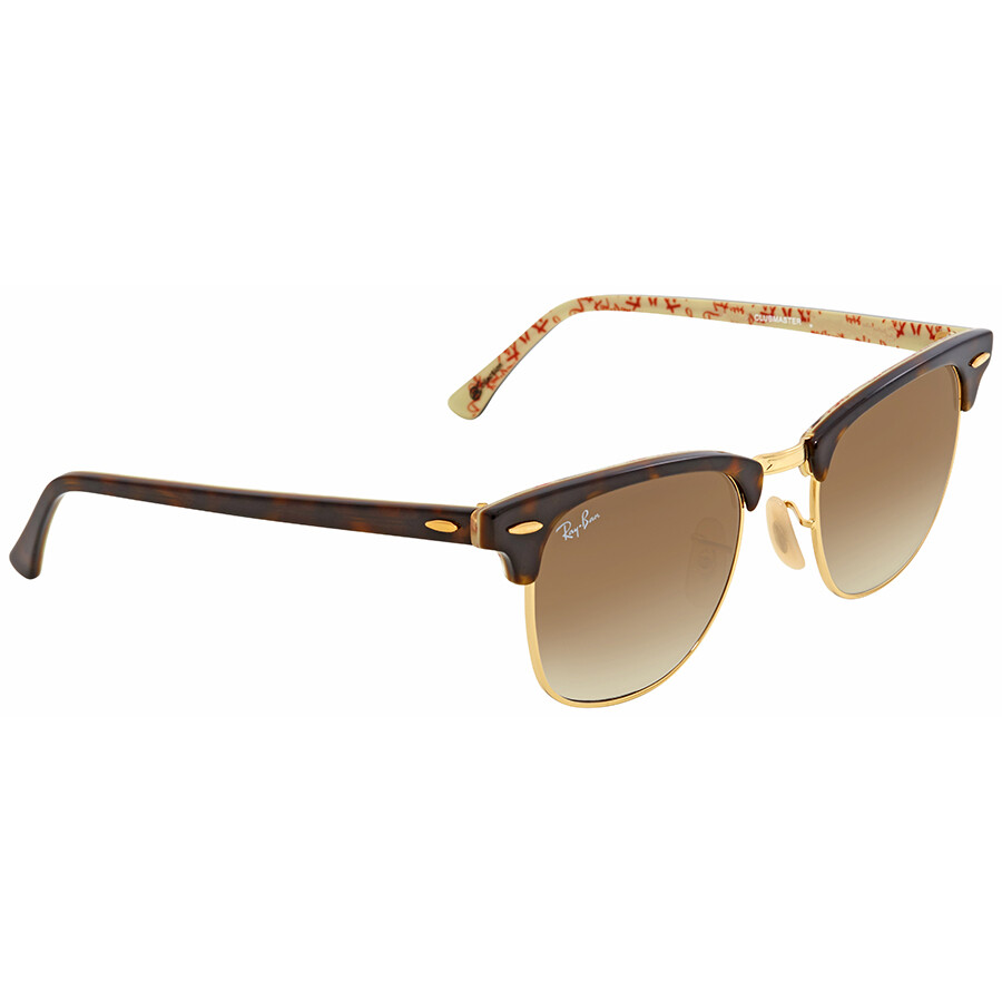 075bc53907 ... Ray Ban Clubmaster Light Brown Gradient Sunglasses RB3016 120451 49 ...