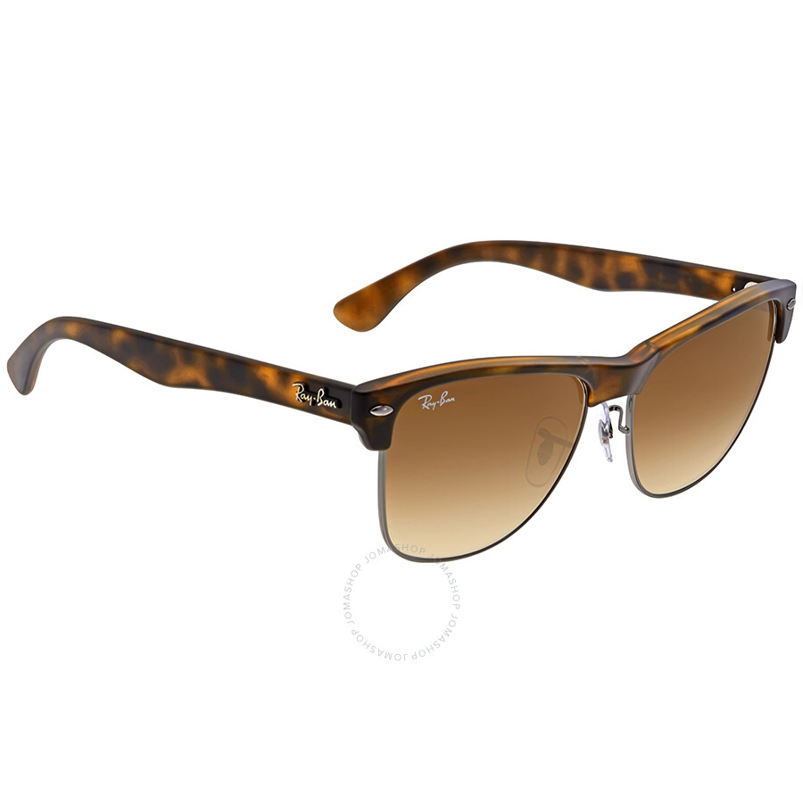 d46b9ddb14 ... Ray Ban Clubmaster Light Brown Gradient Sunglasses RB4175 878 51 57 ...