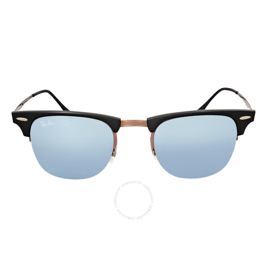 ray ban clubmaster light ray 49mm green mirror sunglasses. Black Bedroom Furniture Sets. Home Design Ideas