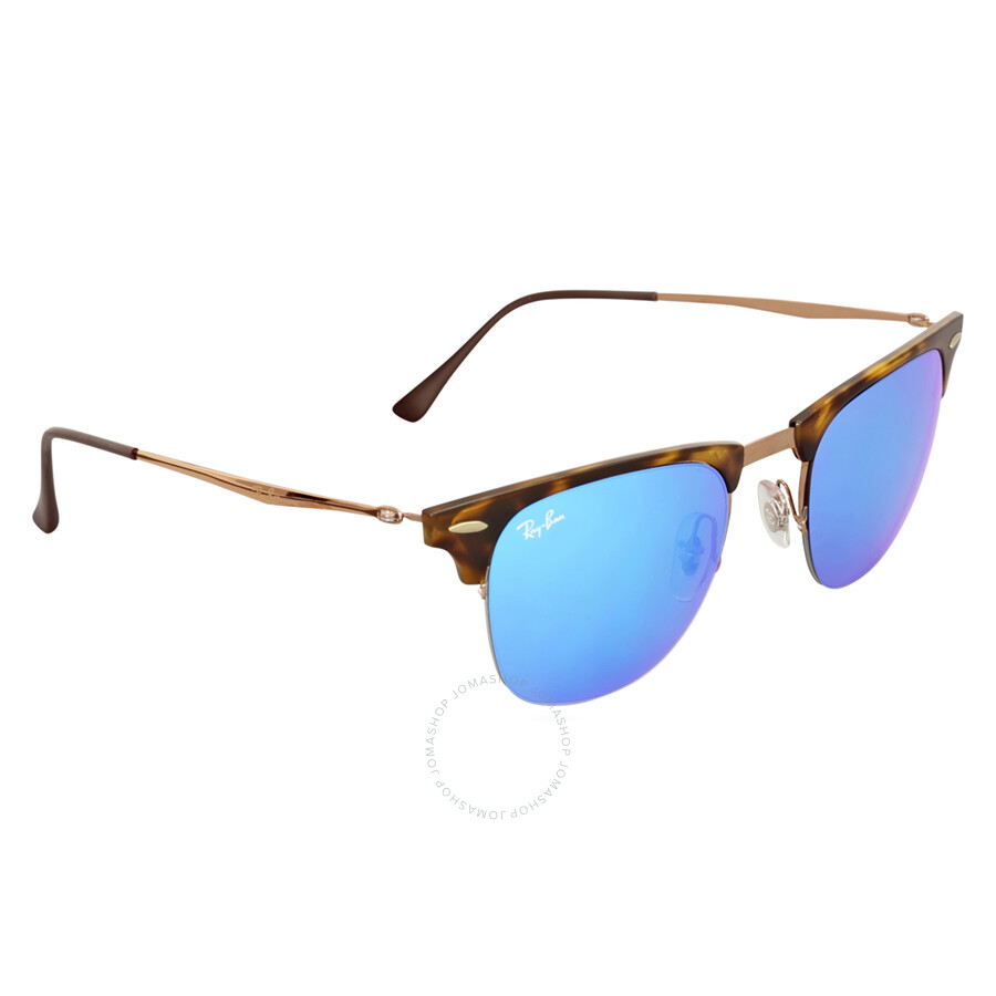 4721808f4b ... Ray-Ban Clubmaster Light Ray 51MM Blue Mirror Sunglasses RB8056 175 55  51- ...